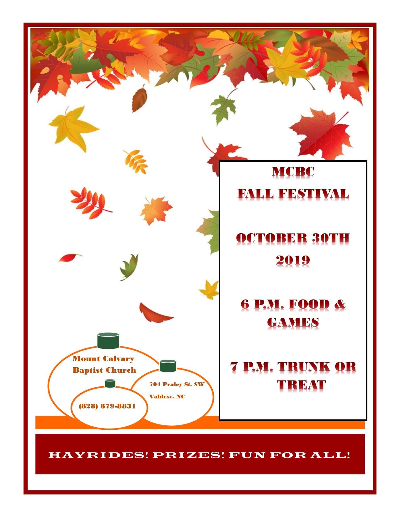 Fall Festival Fliers